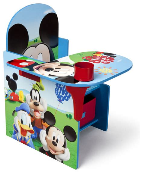 bureau mickey children blue mickey mouse storage bin cup holder