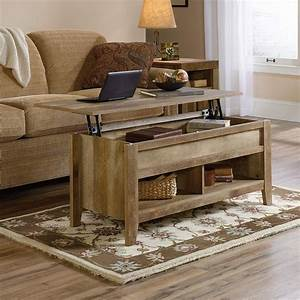 Rustic-lift-top-coffee-table-weathered-wood-finish-natural-bottom-shelves-storage