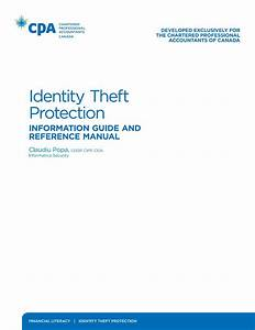 Identity Theft Protection  Information Guide And Reference