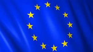 European Union Flag 3D Stars Loop HD Animation Of A