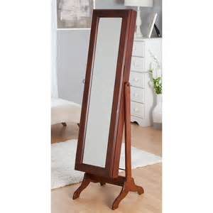 the kitchen collection llc free standing swivel jewelry armoire cherry at hayneedle