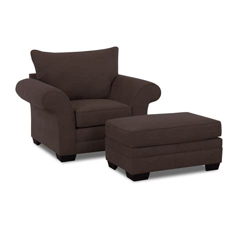 accent chair and ottoman set klaussner holly chair and ottoman set atg stores