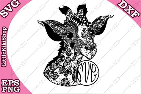 Are you searching for mandala animal png images or vector? Baby Giraffe Svg, MANDALA GIRAFFE SVG, Monogram Giraffe ...