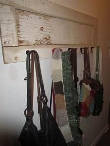 Old, Door, Memo, Board, With, Hooks