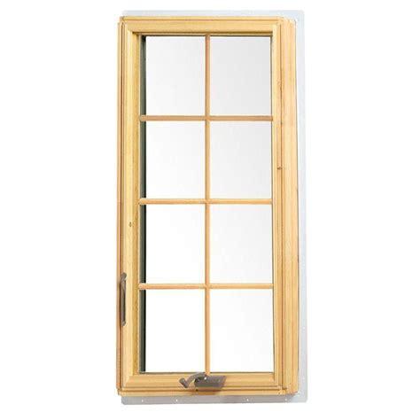 andersen       series casement wood window  white exterior  hand