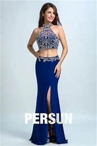 Eng Anliegende Kleider : g nstig 2016 sexy 2 piece abendkleider aus chiffon in blau online verkauf persun ~ Frokenaadalensverden.com Haus und Dekorationen