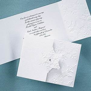 1000 images about winter wedding invitations on pinterest With embossed snowflake wedding invitations