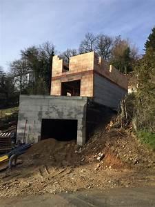 construction sur terrain en pente maison moderne With construction maison sur terrain en pente
