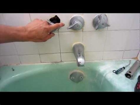 water leaking from bathtub how to replace diverter valve compression style tub to