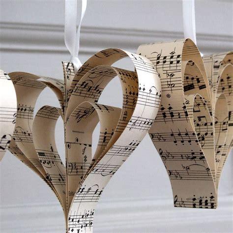 Handmade Sheet Music Heart Decoration By Remade