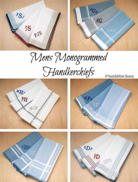 monogrammed handkerchiefs men 2 letter set of 3 mens monogrammed handkerchiefs personalized mens hankies