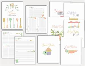 8 best images of family recipe binder free printables With free recipe templates for binders