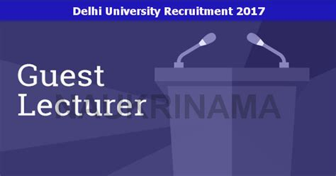 aplication leter for guest lecturer post delhi guest lecturer openings 2017 naukri nama