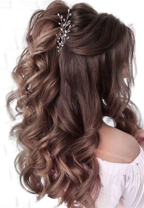 Half Up Half Down Wedding Hairstyles Roses & Rings