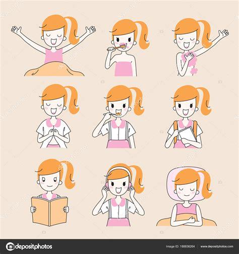 imagenes actividades diarias de una persona esquema de