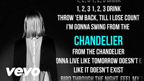 Vevo Sia Chandelier by Sia Chandelier Karaoke Lyrics Backing Vocals