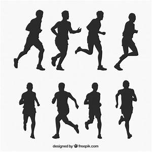 Running man silhouettes collection Vector   Free Download
