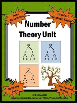 number theory gcf and lcm divisibility prime