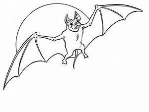 Halloween Bat Coloring Pages Coloring Page For Kids | Kids ...
