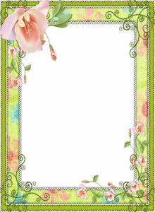 Light Green Transparent Flower Frame | cards and frame s ...