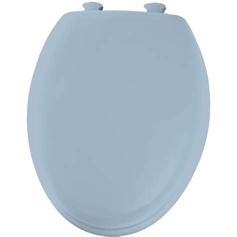 BEMIS Elongated Closed Front Toilet Seat in Sky Blue ...