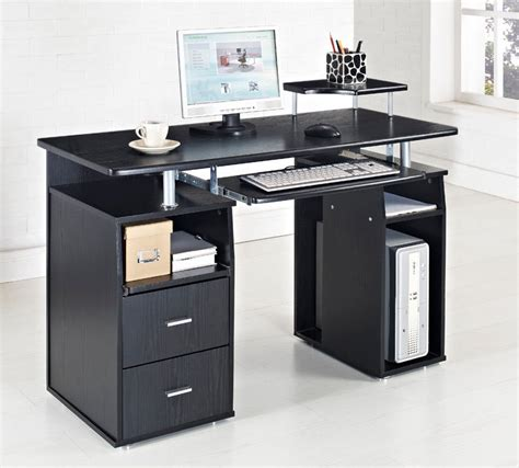 home office table desk black computer desk home office table pc furniture work