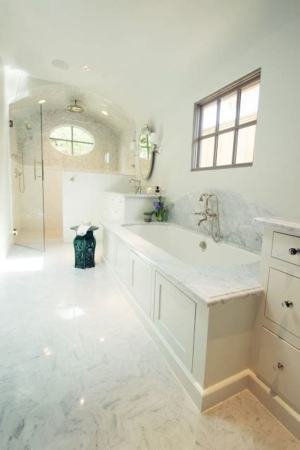 bathroom window carrera marble master bath