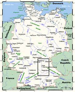 Germany Map Rivers Mountains
