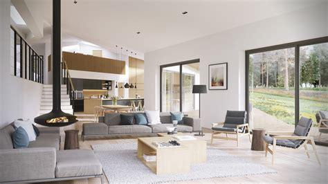 Offener Wohnbereich Wohnideen by Open Plan Interior Design Inspiration