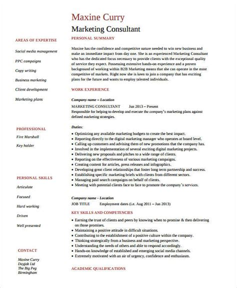 Executive Marketing Consultant Resume by Marketing Resume Sles For Successful Hunters