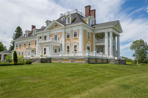 A Stately Colonial-Style Mansion in Burke, Vermont, Is on