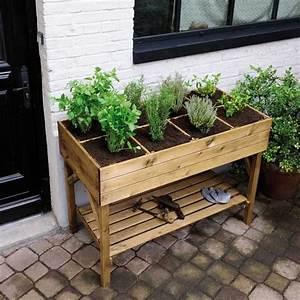 Carr Potager Pour Herbes Aromatiques Castorama Mon