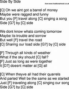 My Funny Chord Chart Old Time Song Lyrics With Chords For Side By Side C In