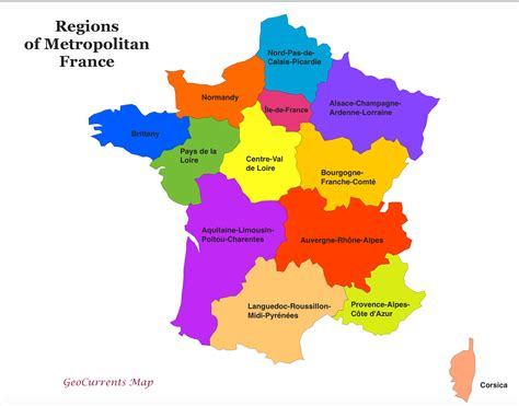 Customizable Maps Of France, And The New French Regions