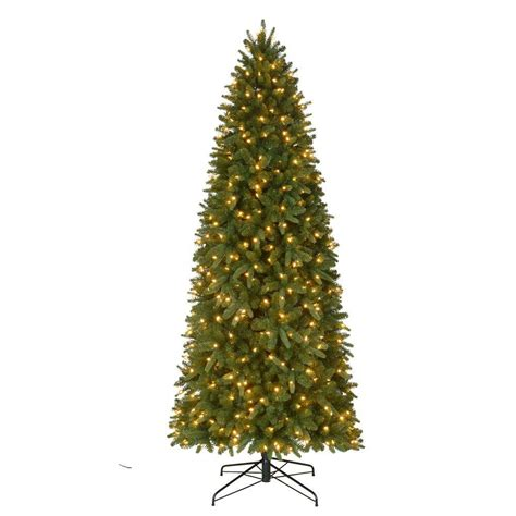 home accents sierra nevada tree 9 ft pre lit led nevada pe pvc slim artificial set tree x 2046 tips with