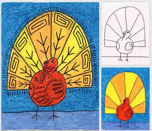 abstract turkey drawing projects for