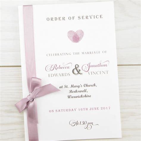 thumb print order  service pure invitation wedding invites