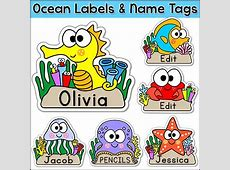 Ocean Theme Name Tags Labels Under the Sea Theme