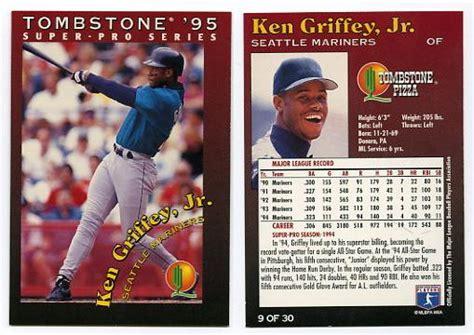 Baseball Trading Card Vern Gorman S Baseball Trading Cards 1995 Tombstone