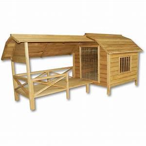 Niche Grand Chien Xxl : niche pour chien maison xxl porte lamelles bois balcon ~ Dailycaller-alerts.com Idées de Décoration