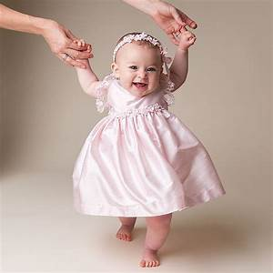 Baby Girl Pink Special Occasion Silk Dress - Leila Collection