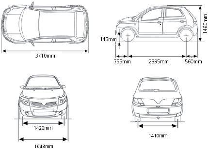 typical dimensions of a car car blondes brigade vs el bastardos