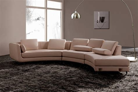 canapé arrondi modern leather sectional sofa a94 leather sectionals
