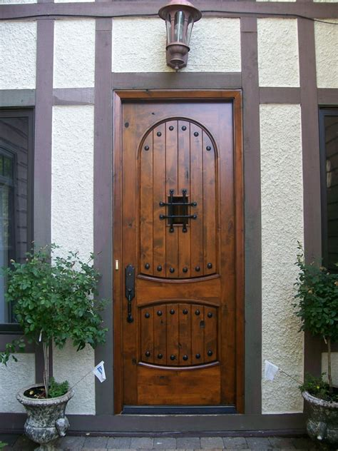 wood entry doors applied  home exterior design traba