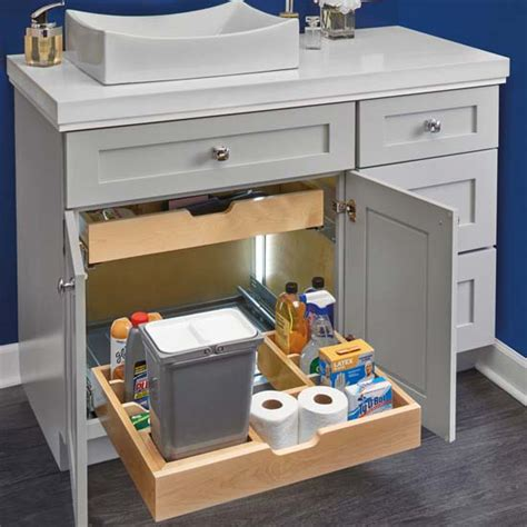 bathroomvanity  shape  sink pullout organizer