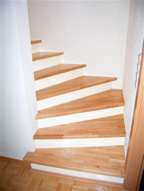 betontreppe mit holzstufen holzstufen auf betontreppe buche trittstufen ohne setzstufen