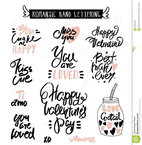 romantic hand lettering love quotes beautiful hand drawn