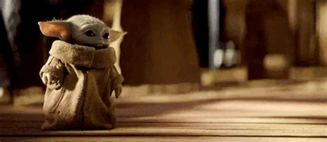 Baby Yoda Spitting Out Frog Gif