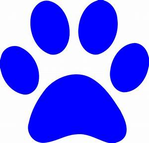 Best Photos of Blue Wildcat Paw Print - Blue Paw Print ...