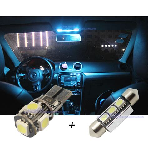 10 pcs xcar led canbus interior light bar kit white for vw